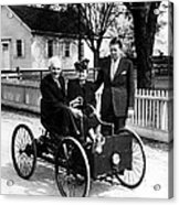 Henry Ford In His First Automobile Acrylic Print
