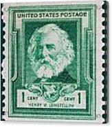 Henry W Longfellow Postage Stamp Acrylic Print