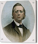Henry Ward Beecher (1813-1887). American Clergyman. At Age 50: Steel Engraving, 19th Century Acrylic Print
