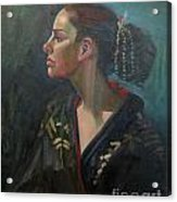 Her Kimono Acrylic Print by Lilibeth Andre