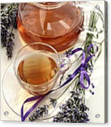 Herbal Tea And Lavender Acrylic Print