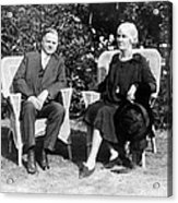 Herbert Hoover Seated With His Wife Acrylic Print