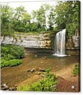 Herisson Waterfalls Acrylic Print