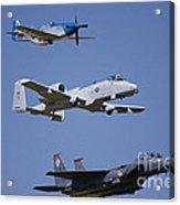 Heritage Flight Wings Over Whitman Acrylic Print by Linda Gardner-Goos