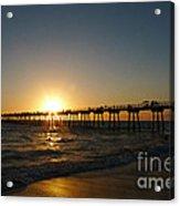 Hermosa Beach Sunset Acrylic Print