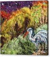 Heron At Night Acrylic Print