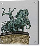 Heros Square Statue Acrylic Print