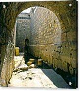 Hezikiahs Tunnel Pool Of Shiloah Acrylic Print