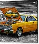 Hi-powered Dodge Abstract Acrylic Print