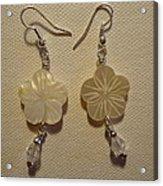 Hibiscus Hawaii Flower Earrings Acrylic Print by Jenna Green