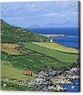 High Angle View Of A Coastline, Beara Acrylic Print