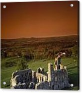 High Angle View Of An Old Ruin,with Acrylic Print