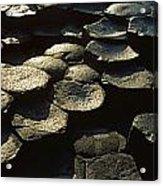 High Angle View Of Basalt Rocks, Giants Acrylic Print