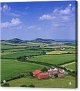 High Angle View Of Fields, Stradbally Acrylic Print