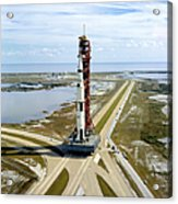 High Angle View  Of The Apollo 14space Acrylic Print