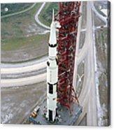 High Angle View  Of The Apollo 15 Space Acrylic Print
