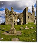 High Cross At Clonmacnoise, County Acrylic Print