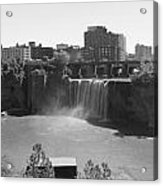 High Falls In Rochester New York Acrylic Print by Matthew Green