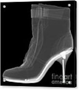 High Heel Boot X-ray Acrylic Print