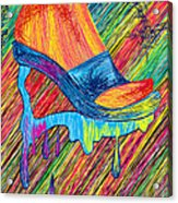 High Heels Abstraction Acrylic Print by Kenal Louis