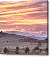 High Park Fire Larimer County Colorado At Sunset Acrylic Print