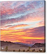 High Park Wildfire Sunset Sky Acrylic Print