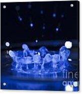 High-speed Flash Photograph Liquid Coronet. Acrylic Print