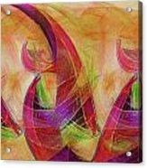 High Vibrational Acrylic Print by Linda Sannuti