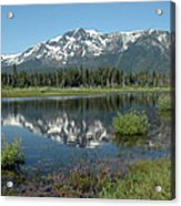 High Water Mt Tallac Reflections Acrylic Print