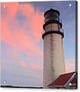 Highland Lighthouse Sunset Cape Cod Acrylic Print