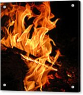 Highly Defined Flame Acrylic Print