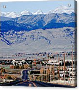 Highway 52 End Of The Line Acrylic Print