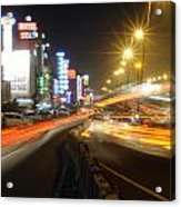 Highway And Hotels Acrylic Print