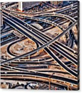 Highway Intersection Of Acrylic Print