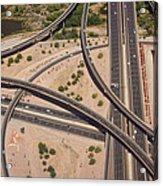 Highway Planet Art Acrylic Print