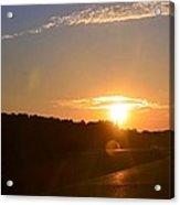 Highway Sunrise Acrylic Print