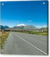 Highway Towards Panoramic Mountain Acrylic Print