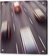 Highway Traffic In Motion Acrylic Print