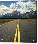 Highways To Tops Of World Acrylic Print