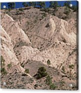 Hill Soil Erosion Caused By Over-grazing Acrylic Print
