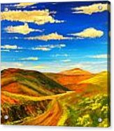Hill View Valley Acrylic Print
