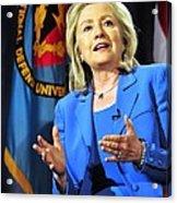 Hillary Clinton, Us Secretary Of State Acrylic Print