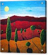 Hills of Red III Acrylic Print