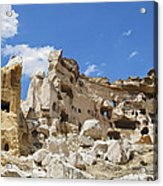 Hillside Cave Village And Ancient Township Acrylic Print
