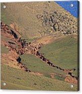 Hillside Erosion Caused By Run Acrylic Print