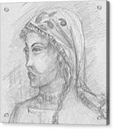 Himalayan Woman Acrylic Print