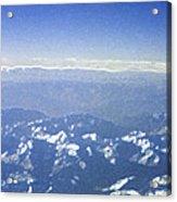Himalayas Blue Acrylic Print