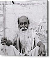 Hindu Holyman In Benares Acrylic Print