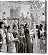 Hindu Pilgrims Acrylic Print