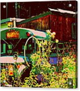 Hippie Camping Acrylic Print by Cindy Wright